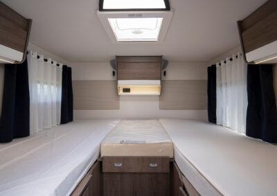 Wohnmobil Innenraum, Schlafplätze