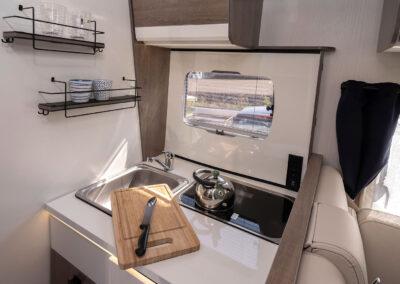Wohnmobil Innenraum, Kochbereich
